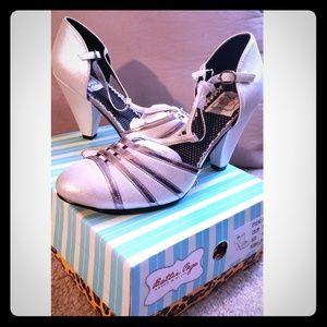 Bettie Page Silver Heels